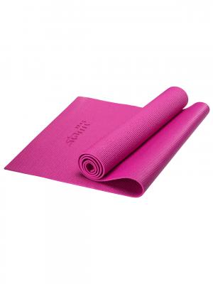 Коврик для йоги FM-101, PVC, 173x61x0,5 см, розовый