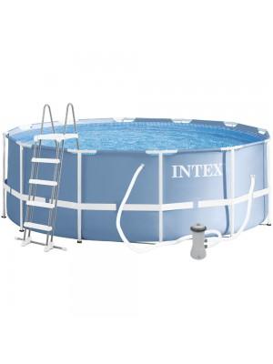 26718FR Бассейн каркасный в комплекте с фильтр-насосом и лестницей 3,66 х 1,22 м.
