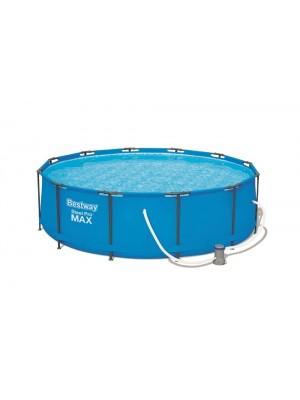 56418 Бассейн Steel Pro Max, 366х100см, 9,150л., насос фильтр, лестн.