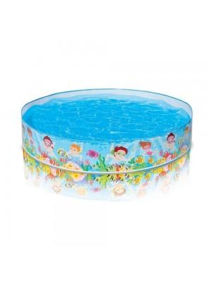 """Детский каркасный бассейн """"Весёлый пляж"""", 152*25 см INTEX-56451"""