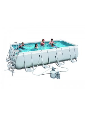 56671 Каркасный бассейн прямоугольный Bestway Rectangular Frame 4,88х2,44х1,22м
