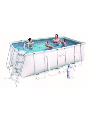 56457 Прямоугольный каркасный бассейн Bestway Rectangular Frame 4,12х2,01х1,22м