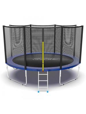 Батут EVO Jump External 12ft (Blue) с внешней сеткой и лестницей
