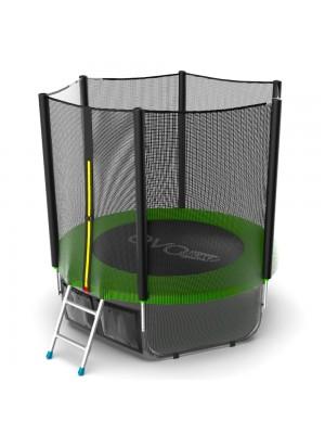 Батут EVO Jump External 6ft (Green) + Lower net с внешней сеткой и лестницей + Нижняя сеть