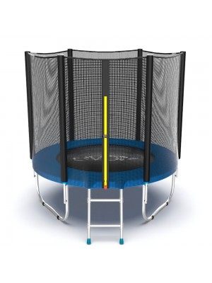 Батут EVO Jump External 6ft (Blue) с внешней сеткой и лестницей