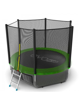 Батут EVO Jump External 8ft (Green) + Lower net с внешней сеткой и лестницей + Нижняя сетка
