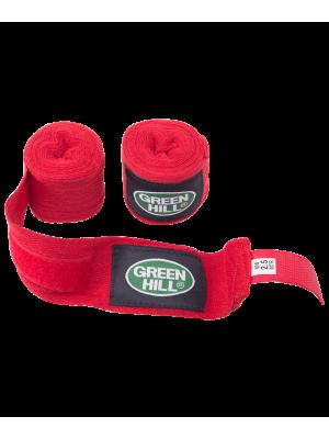 Бинт боксерский BC-6235a, 2.5м-3.5м, х/б, красный