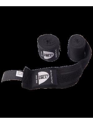 Бинт боксерский BC-6235a, 2.5м-3.5м, х/б, черный
