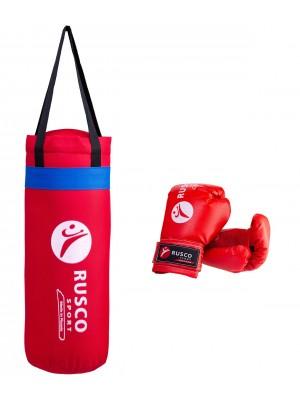"""Набор для бокса """"Rusco"""", цвет: красный, 4 oz"""