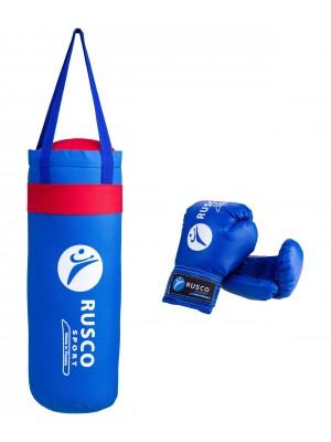 """Набор для бокса """"Rusco"""", цвет: синий, 4 oz"""