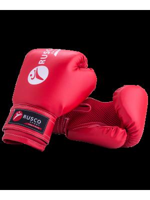 Перчатки боксерские детские, 4oz, к/з, красный Rusco
