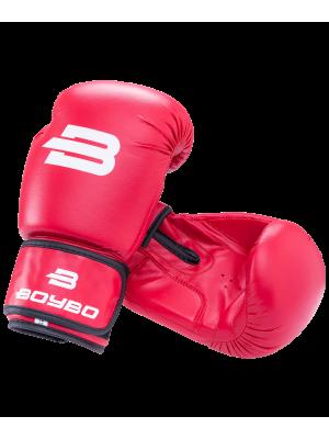 Перчатки боксерские Basic, 10 oz, к/з, красный BoyBo