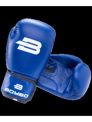 Перчатки боксерские Basic, 10 oz, к/з, синий BoyBo