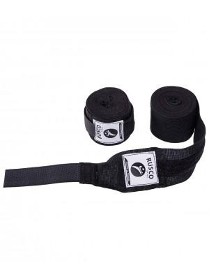 Бинт боксерский, 2,5 м, хлопок, черный