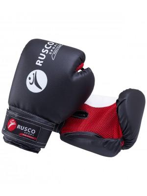 Перчатки боксерские, 10oz, к/з, черные Rusco