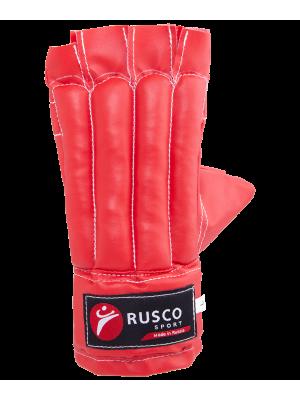 Перчатки снарядные Rusco, шингарды, к/з, красный (L)