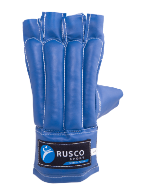 Перчатки снарядные Rusco, шингарды, к/з, синий (L)
