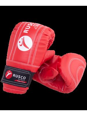 Перчатки снарядные Rusco, к/з, красный (L)