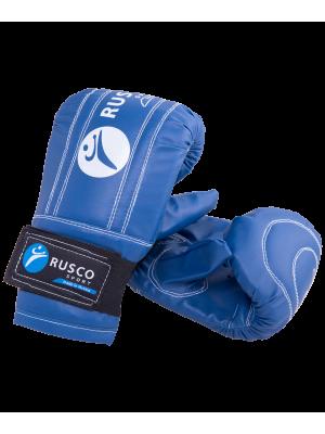 Перчатки снарядные Rusco, к/з, синий (L)