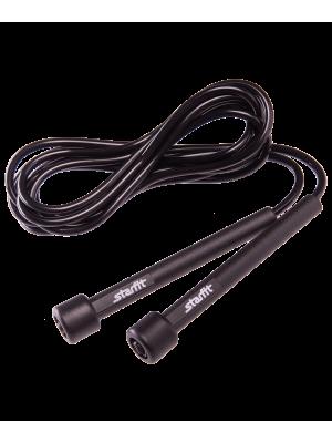 Скакалка RP-101 ПВХ с плаcтиковой ручкой, черная, 3 м