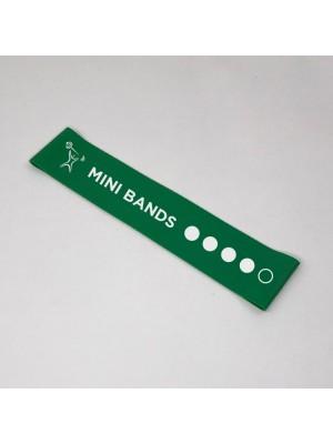 Зеленая фитнес-резинка Mini Bands (12 кг) 30*5 см