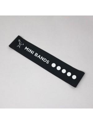 Черная фитнес-резинка Mini Bands (17 кг) 30*5 см