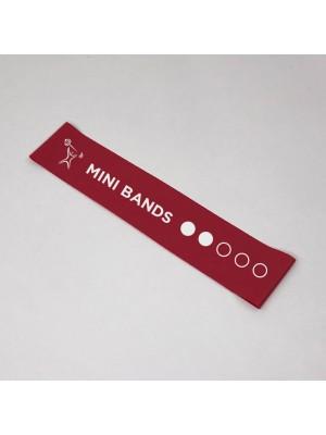 Красная фитнес-резинка Mini Bands (8 кг) 30*5 см