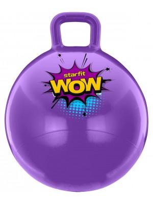 Мяч-попрыгун GB-0402, WOW, 55 см, 650 гр, с ручкой, фиолетовый, антивзрыв