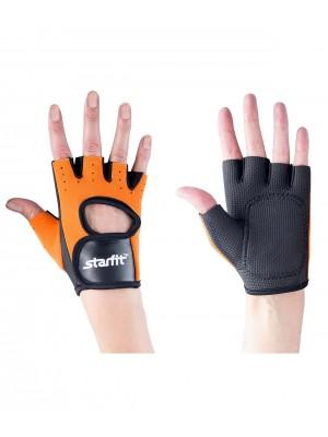 Перчатки для фитнеса SU-107, оранжевые/черные L