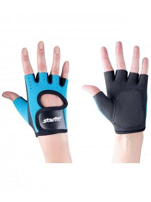 Перчатки для фитнеса SU-107, синие/черные L