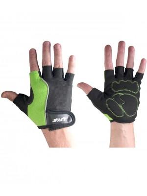 Перчатки для фитнеса SU-108, зеленые/черные, L