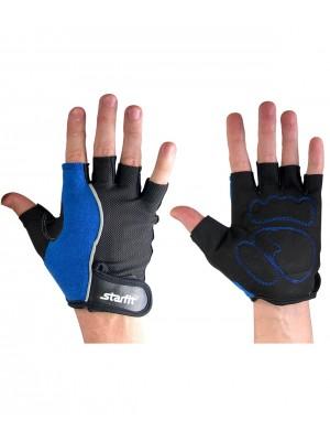 Перчатки для фитнеса SU-108, синие/черные, XL