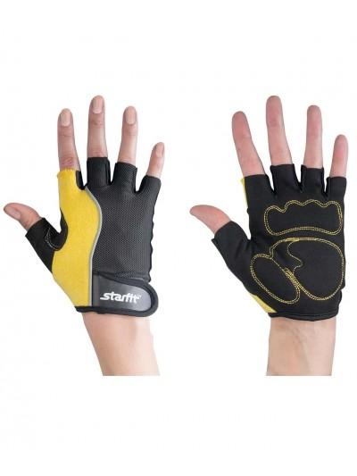 Перчатки для фитнеса SU-108, желтые/черные