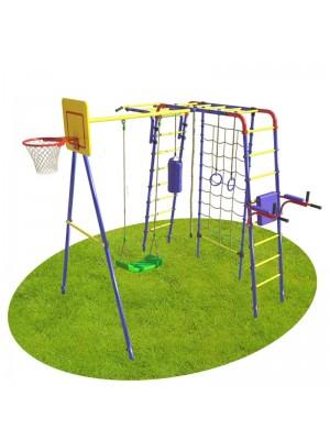 Детская спортивная площадка на дачу Юниор с сеткой