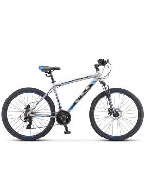 "Велосипед Stels Navigator 500 D F010 26Ø Серебристый/Синий (LU093937) (18"")"
