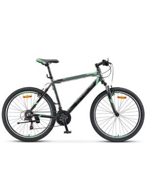 """Велосипед Stels Navigator 600 V V020 26Ø Антрацитовый/Зеленый (20"""")"""