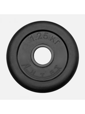 Диск обрезиненный АНТАТ 1.25 кг, Ø26 мм