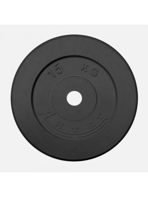 Диск обрезиненный АНТАТ 15 кг, Ø26 мм