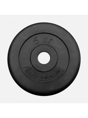 Диск обрезиненный АНТАТ 5 кг, Ø26 мм